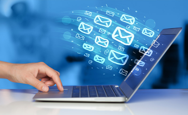 Email sending on laptop