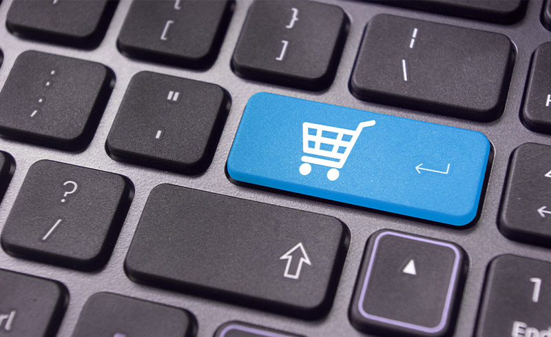 Ecommerce button on keyboard